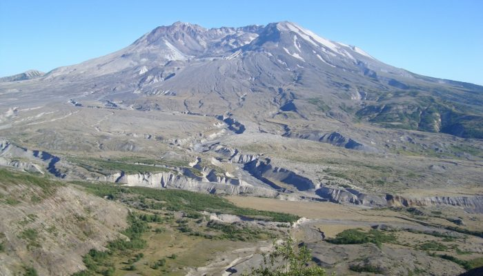 Mount St Helen's, Washington, seen from Johnston Ridge.