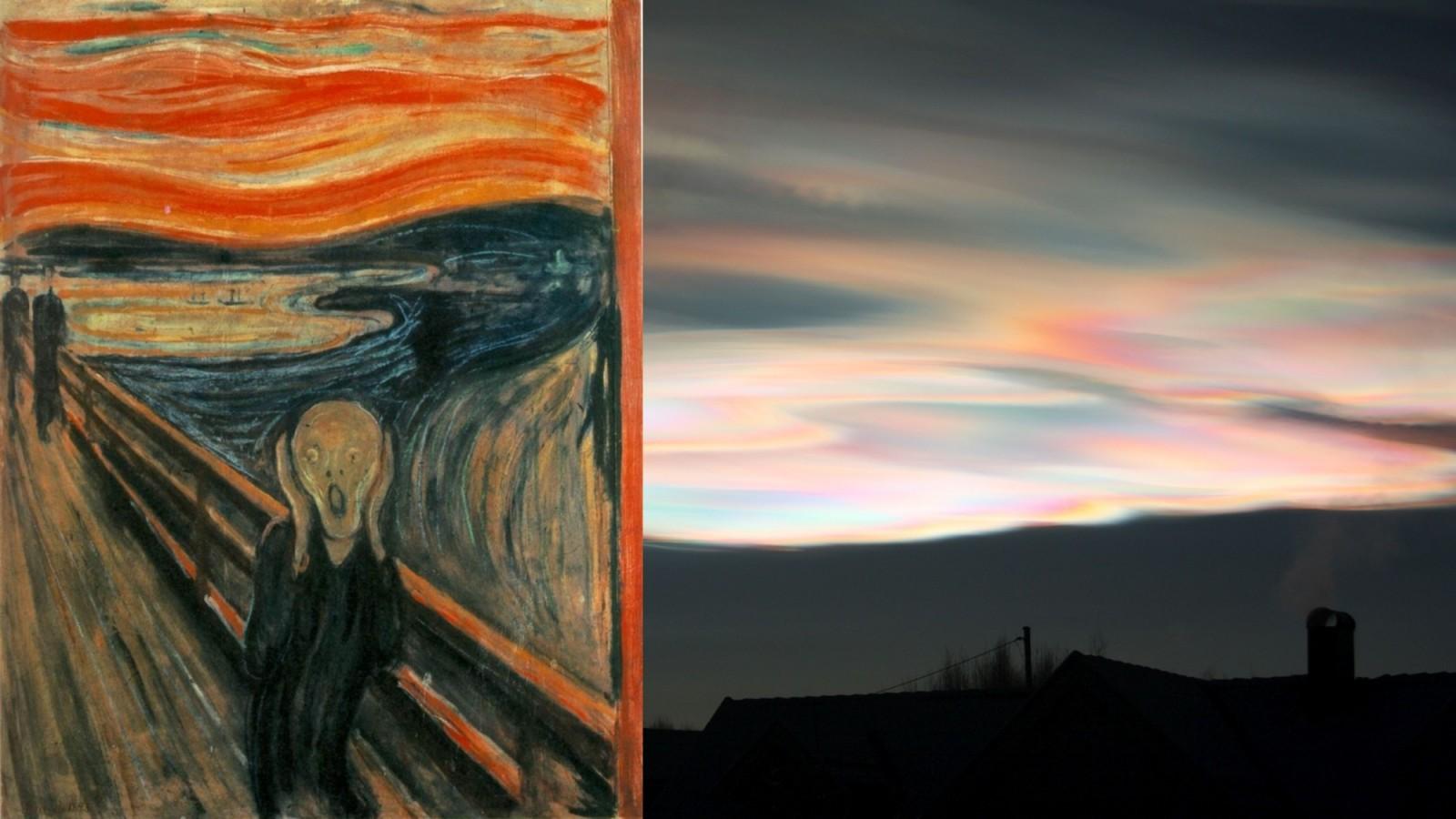 Geolog Extraordinary Iridescent Clouds Inspire Munchs