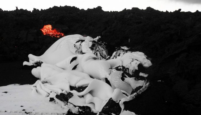 Imaggeo on Mondays: Snow folded by advancing lava