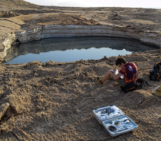 Imaggeo on Mondays: Sampling sulfurous sinkhole water