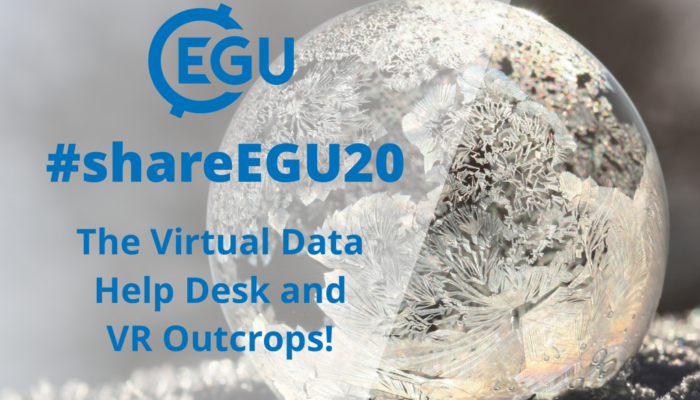 #shareEGU20: the Data Help Desk and VR Outcrops!