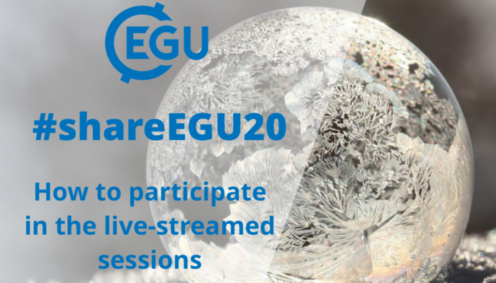 #shareEGU20: how to participate in the live-streamed sessions