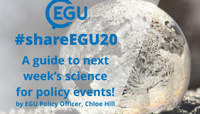 GeoPolicy: Getting involved with science for policy during #shareEGU20!