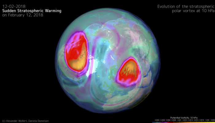 Imaggeo On Monday: The sudden stratospheric warming on February 12, 2018
