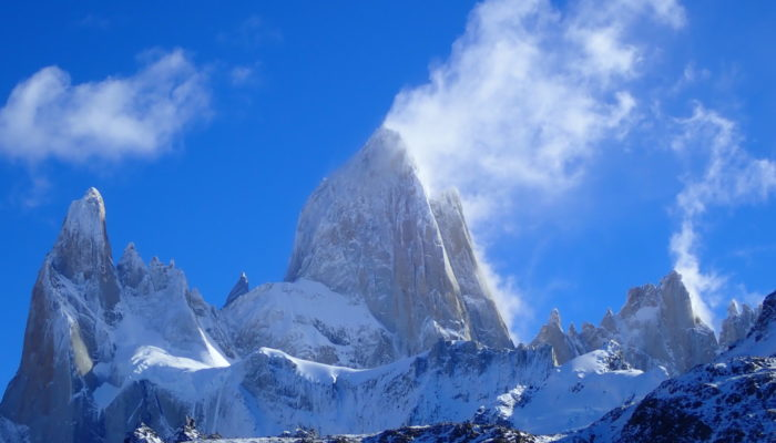 "Imaggeo On Monday: ""Smoking"" peaks of the Patagonian batholith"