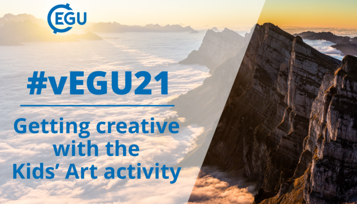 Whats on at #vEGU21: getting creative with the Kids Art activity!