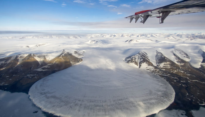 Imaggeo On Monday: Elephant Foot Glacier in Greenland from a Twin Otter perspective