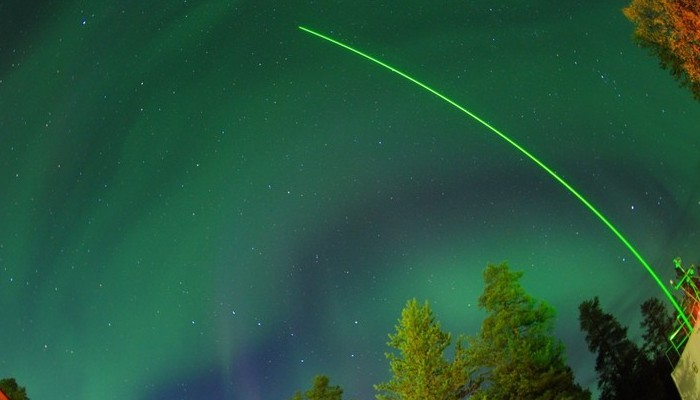 Imaggeo on Mondays: A single beam in the dancing night lights