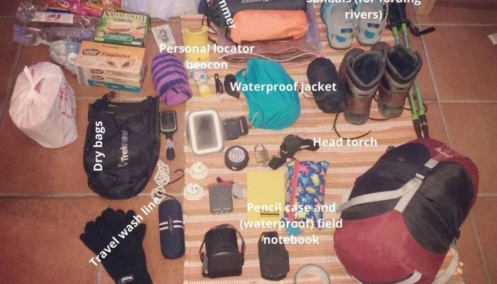What is in your field rucksack? Camping in Iceland