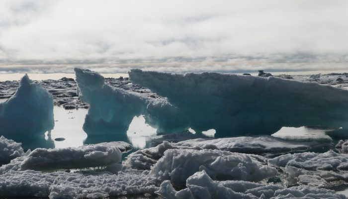 Sea ice breaking on the Chukchi Sea, Barrow, July 2014