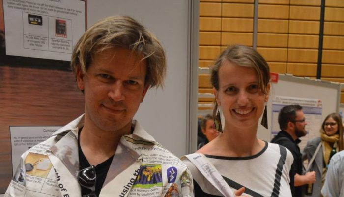 Sandra and Rolf model their REpost fashion at EGU 2017.
