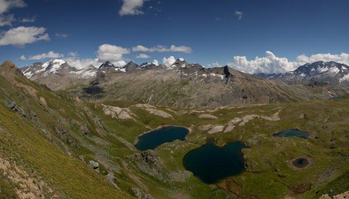 Imaggeo on Mondays: Bird's eye view of Trebecchi Lakes