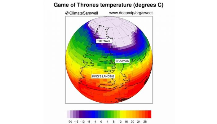 Geosciences Column: climate modelling the world of Game of Thrones