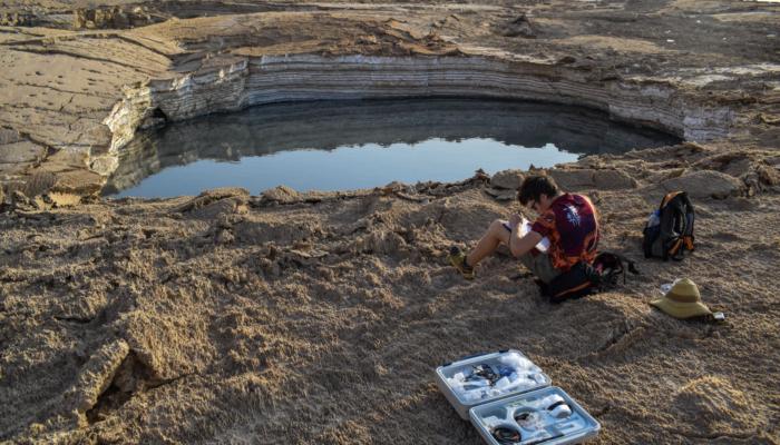 Imaggeo on Mondays: Sampling sulfurous sinkhole water
