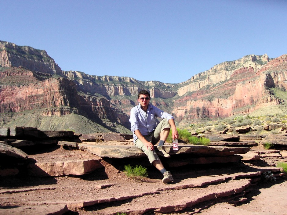 Out in the field – Matthew Aguis in the Grand Canyon. (Credit: Matthew Aguis)