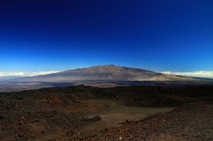 View from the Mauna Loa observatory in Hawaii. Photograph distributed under a CC-BY 2.0 license.