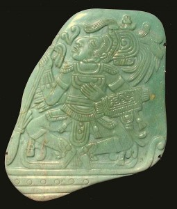Jadeite Pectoral from the Mayan Classic period. Credit - John Hill, Wikimedia Commons.