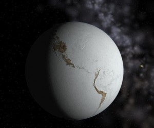 Fictional representation of a 'Snowball Earth'. Source: Neethis, Wikimedia Commons.