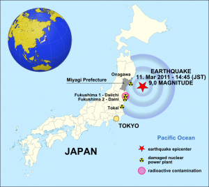 The Japan earthquake of 11 March 2011 - Source: Maximilian Dörrbecker, Wikimedia Commons.