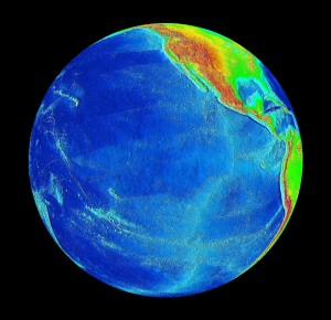 The Pacific Ocean - Source: NASA, Wikimedia Commons.