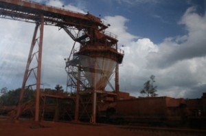 Weipa bauxite mine in Australia - Source: Wikimedia Commons.