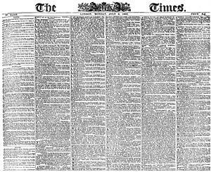 The London Times, 6 July 1863 - Source: Wikimedia Commons.