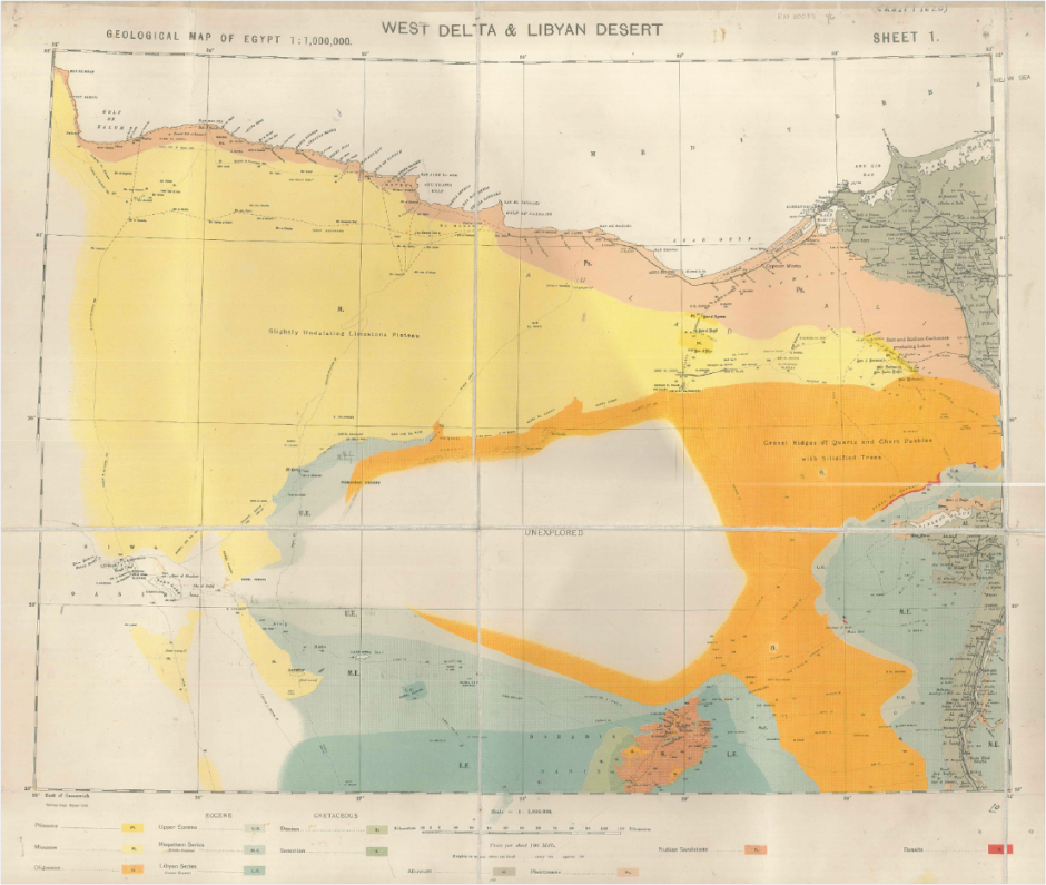 Four Degrees The Wet With The Dry The Geology Of Siwa Oasis - Map of egypt oasis