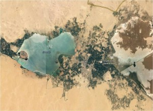 Siwa Oasis, adapted from Google Earth.
