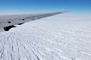 Pine Island Glacier in West Antarctica, seen from NASA's DC-8 research aircraft, 2009. Source: NASA/Jane Peterson.