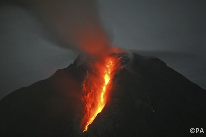 Thank goodness Mount Sinabung isn't a supervolcano. Binsar Bakkara/AP