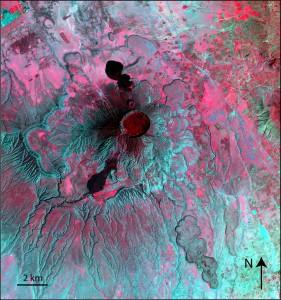SPOT5 image of Longonot volcano, Kenya