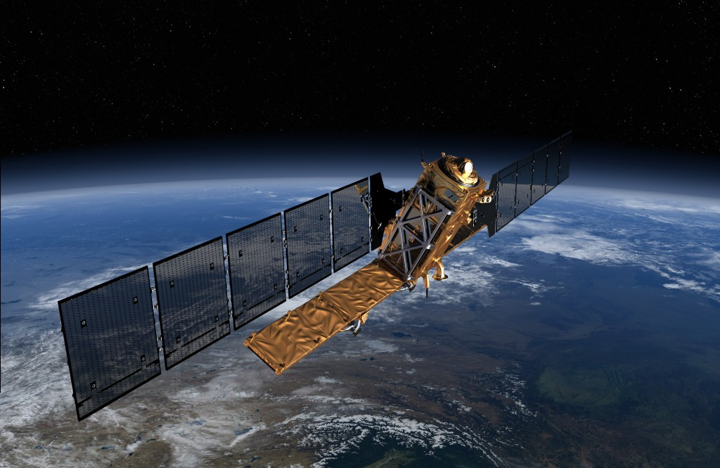 Sentinel-1 satellite to be launched in Spring 2014. Copyright: ESA/ATG Medialab