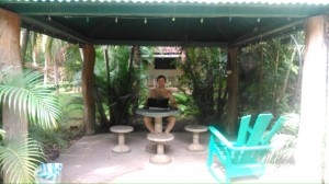 My work space in Potrero, Costa Rica (with reasonable Wifi...)