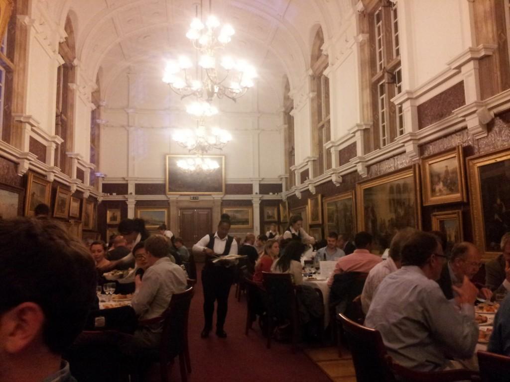 Conference delegates 'networking' over dinner.  Photo: D. Schillereff