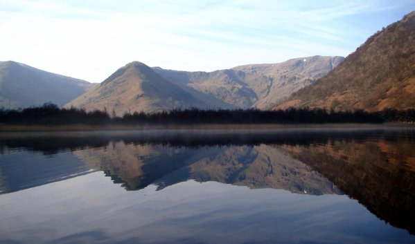 The view south across the catchment of Brotherswater. Photo by: D. Schillereff.