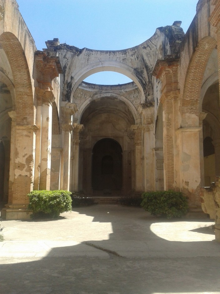 Cathedral Ruins in Antigua. The Cathedral was destroyed by an earthquake in 1773.