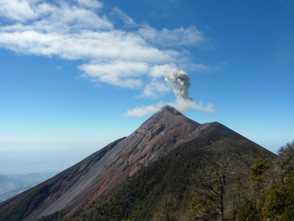 Small eruption of Fuego