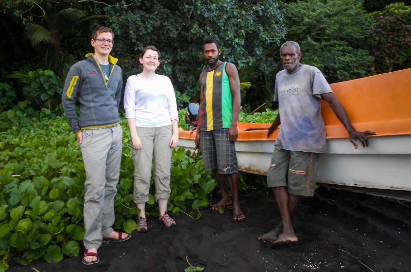 From the left: Ben, Eleri, Jimmy and Daniel (our two guides from the nearby island of Paama).