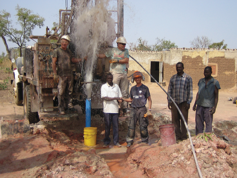 A wet well in Burkina Faso