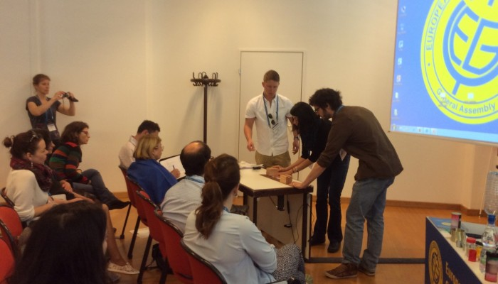 EGU15 Photos: Natural Hazards Demonstrations Short Course