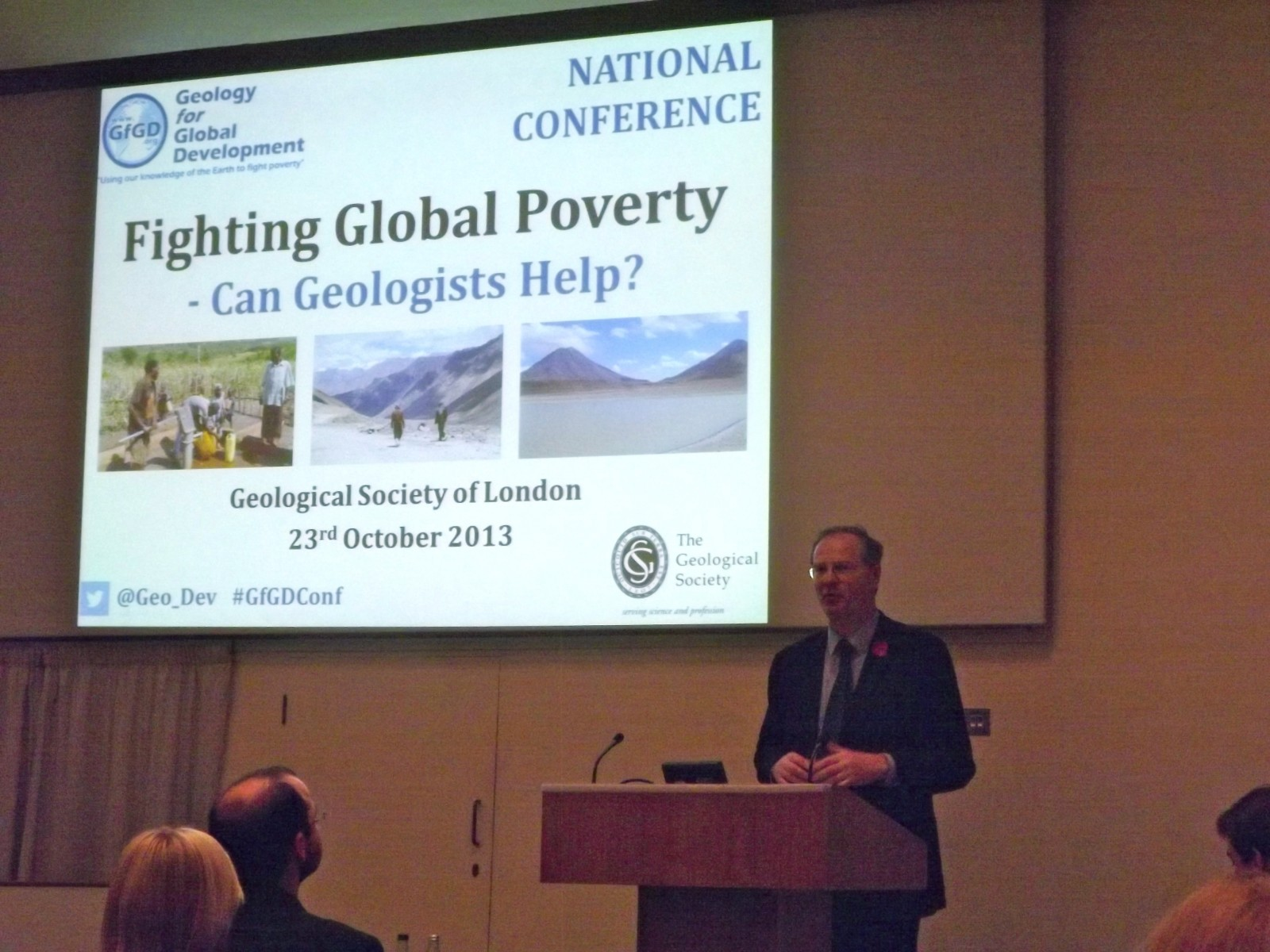 Jeremy Lefroy MP opens the first ever GfGD Annual Conference (2013).