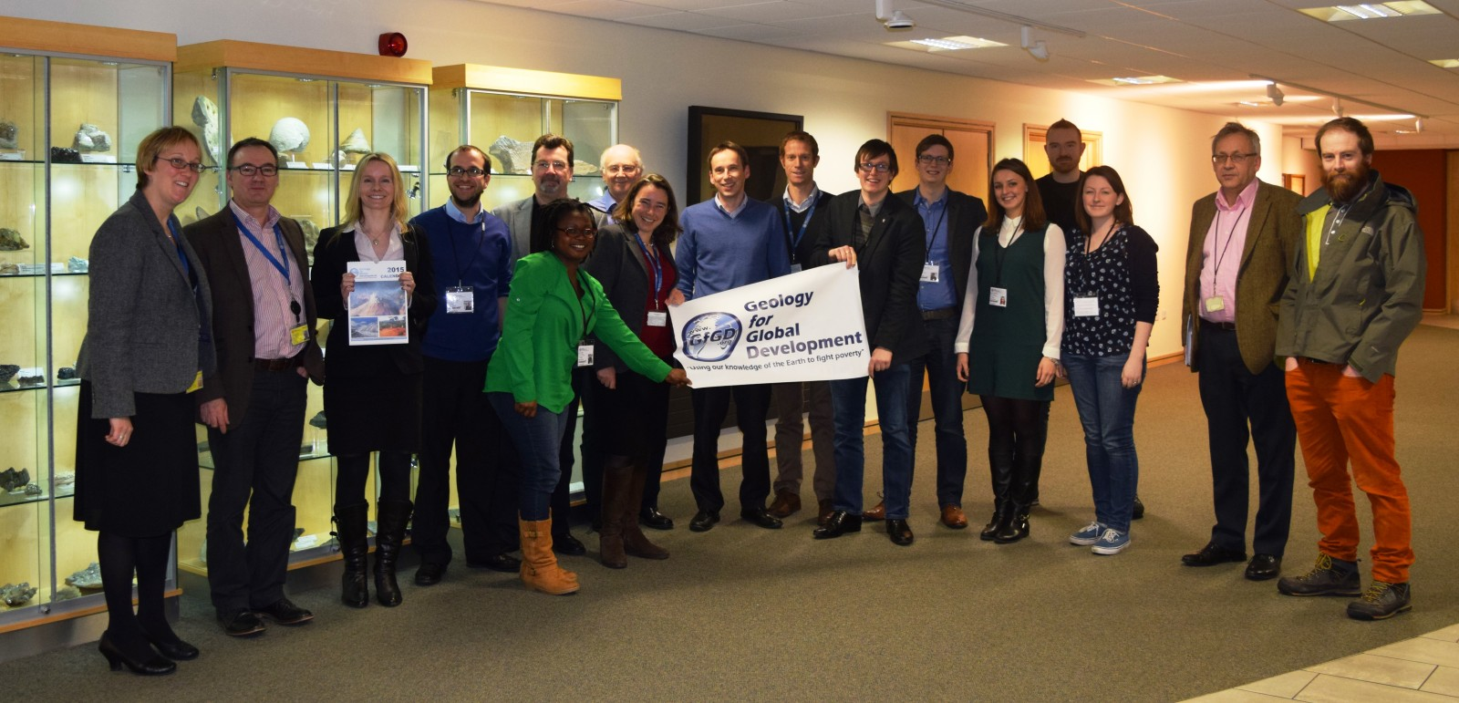 Students from around the UK visit the British Geological Survey in January 2015 for a special workshop on 'best practice when working overseas'.