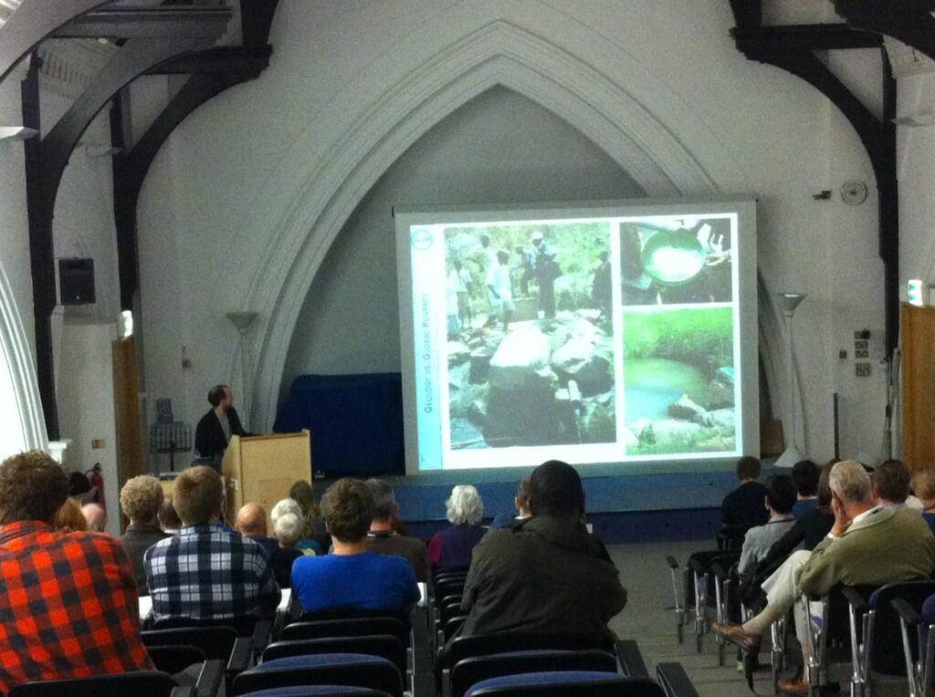 GfGD Director, Joel Gill, gives a presentation at Plymouth University on geology and international development.