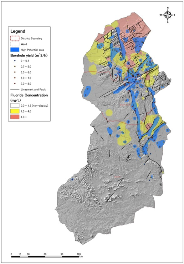 Groundwater Prospecting Map With Fluoride Risk Areas For Jica S Operations In Singida Region Central Tanzania From A 2013 Jica Report Click On Image To