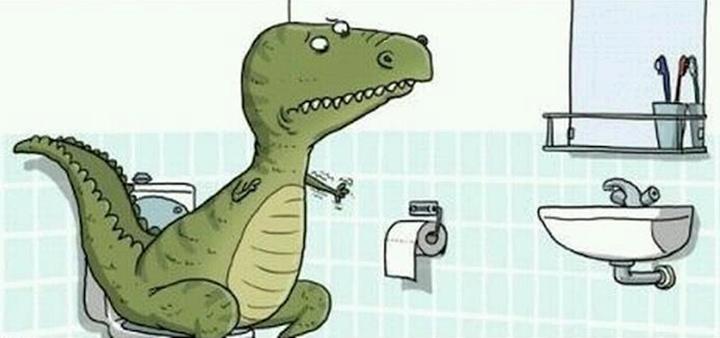 T rex poop