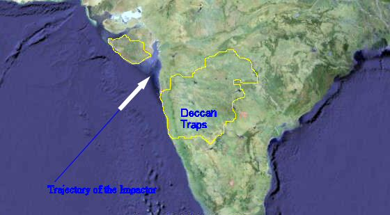 Proposed location of the Shiva impact crater (source)
