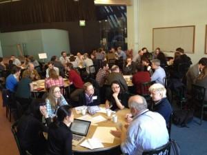 Discussion sessions in full swing. Credit: Tori Herridge