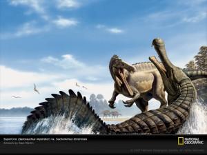 Super croc versus super dinosaur! (source)