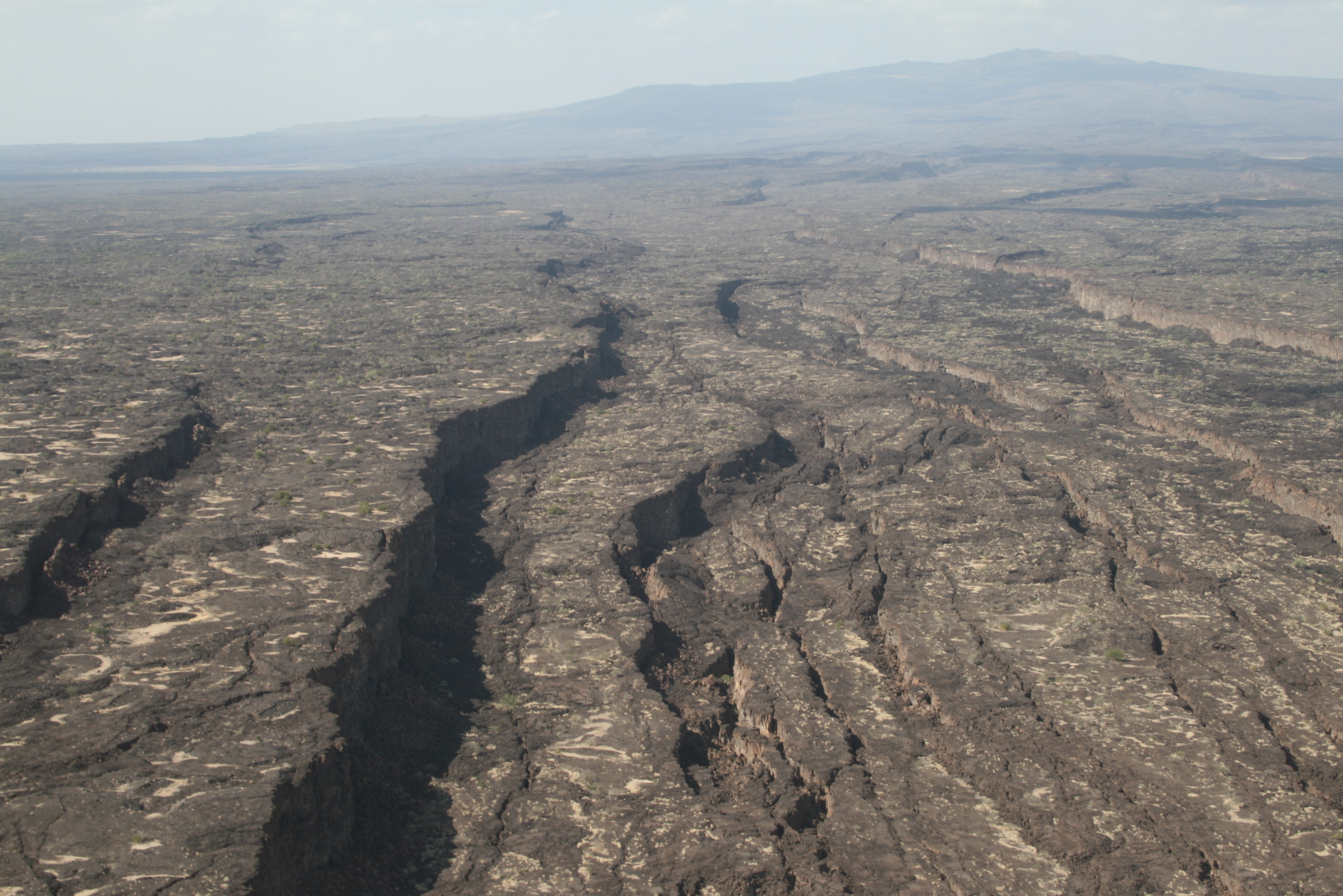 Looking North, Up The Dabbahu Rift, Afar.