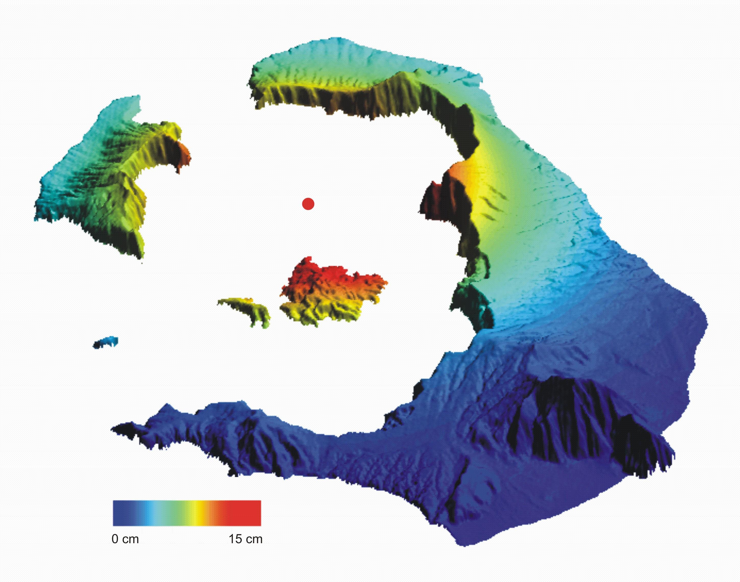 Santorini Vertical Deformation Model